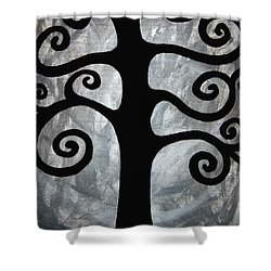 Chaos Tree Shower Curtain