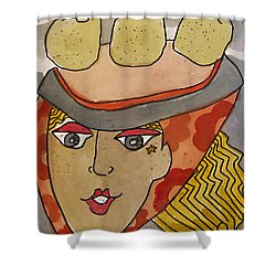 Chapeau Pommes Shower Curtain