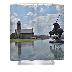 Chapel And Infinity Pool Shower Curtain