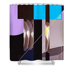 Shower Curtain featuring the mixed media Chapel by Andrew Drozdowicz