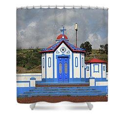 Chapel In Agua De Pau - Azores Shower Curtain by Gaspar Avila
