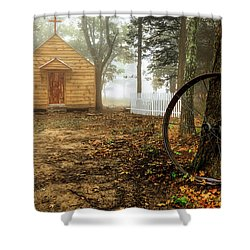 Chapel In The Woods 1 Shower Curtain