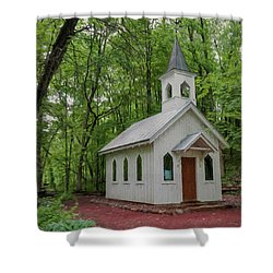 Chapel In The Woods 1 Shower Curtain by Trey Foerster