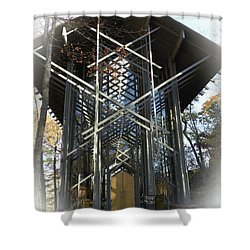 Chapel In The Woods Shower Curtain