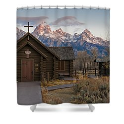 Shower Curtain featuring the photograph Chapel Of The Transfiguration - II by Gary Lengyel