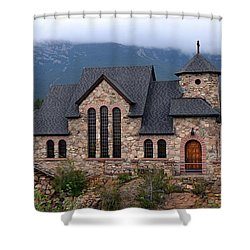 Shower Curtain featuring the photograph Chapel On The Rocks 2017 by Dorrene BrownButterfield