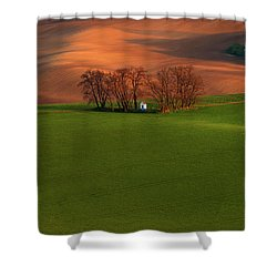 Shower Curtain featuring the photograph Chapel St Barbara. Moravia by Jenny Rainbow