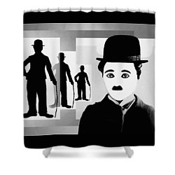 Chaplin, Charlie Chaplin Shower Curtain