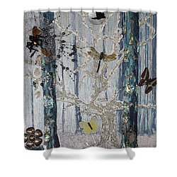 Chapter Green Is Collage Sold Shower Curtain