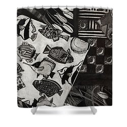 Charcoal Chaos Shower Curtain