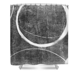 Shower Curtain featuring the painting Charcoal Ensos 2 by Julie Niemela