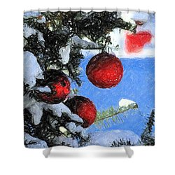Charcoal Ornaments Shower Curtain