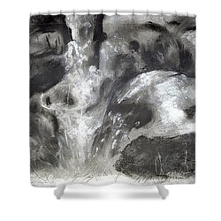 Charcoal Waterfall Shower Curtain