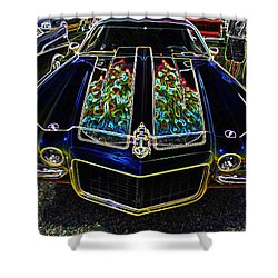 Charged Up Camaro Shower Curtain