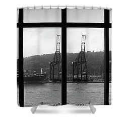 Charging Dock Of Barcelona Shower Curtain