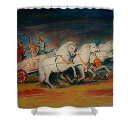 Chariot Shower Curtain by Khalid Saeed