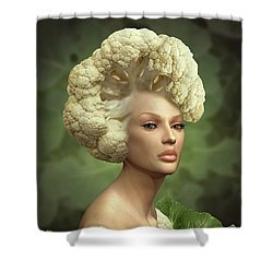 Charismatic Cauliflower Shower Curtain