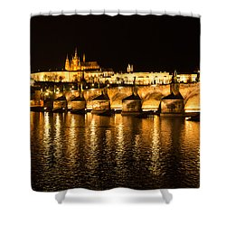Charles Bridge At Night Shower Curtain