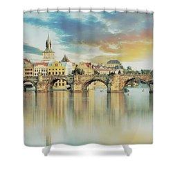 Charles Bridge Shower Curtain by Maciek Froncisz