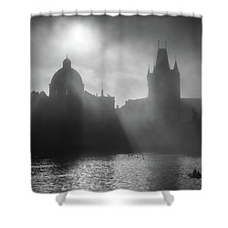 Charles Bridge Towers, Prague, Czech Republic Shower Curtain