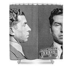 Charles Lucky Luciano Shower Curtain