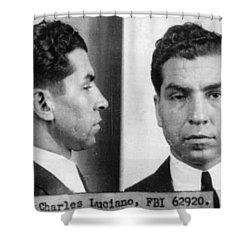 Charles Lucky Luciano Mug Shot 1931 Horizontal Shower Curtain