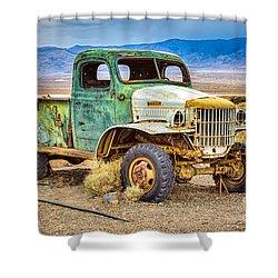 The Charles Manson Forgotten Getaway Truck Shower Curtain