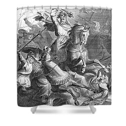 Charles Martel, Battle Of Tours, 732 Shower Curtain by Photo Researchers