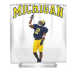 Charles Woodson Shower Curtain