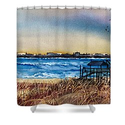 Charleston At Sunset Shower Curtain by Lil Taylor