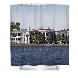 Charleston Battery Row Panorama 2 Shower Curtain