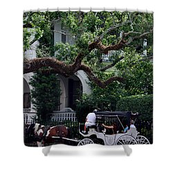 Charleston Buggy Ride Shower Curtain by Skip Willits
