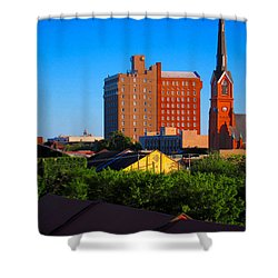 Charleston Buildings Shower Curtain