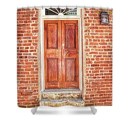 Charleston Doors 1 Shower Curtain