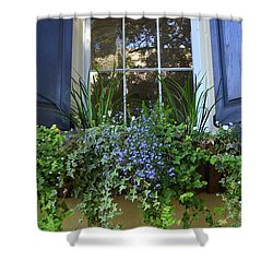 Charleston Flower Box 3 Shower Curtain