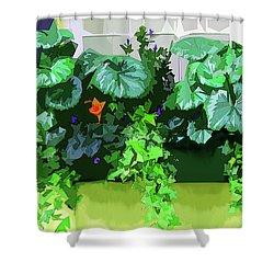 Charleston Flowerbox Shower Curtain