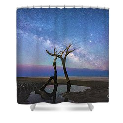 Charleston Milkyway  Shower Curtain by Robert Loe