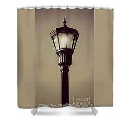 Charleston Morning Streetlight Shower Curtain