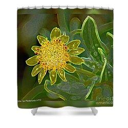Charleston Neon Floral Shower Curtain