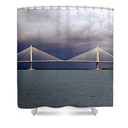 Charleston Ravenel Bridge Shower Curtain by Skip Willits