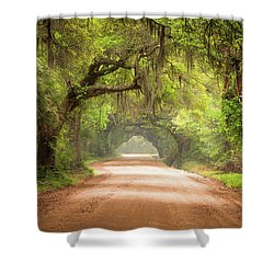 Charleston Sc Edisto Island Dirt Road - The Deep South Shower Curtain