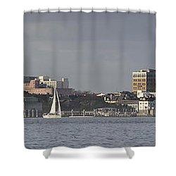 Charleston Sc Panorama Shower Curtain