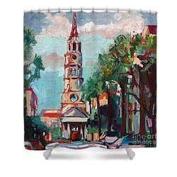 Charleston St Phillips Church Shower Curtain by Ginette Callaway