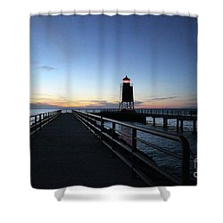Charlevoix Light Tower Shower Curtain