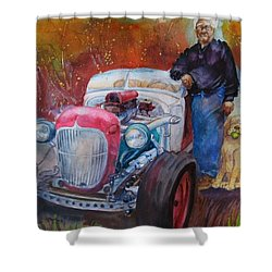 Charlie And Bella's Ride Shower Curtain