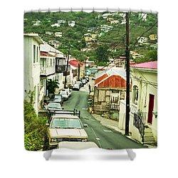 Charlotte Amalie Neighborhood Shower Curtain