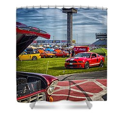 Charlotte Auto Fair Shower Curtain by Gary Warnimont