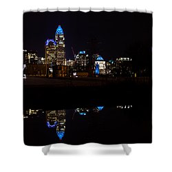 Charlotte Reflection At Night Shower Curtain by Serge Skiba