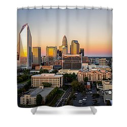 Charlotte Skyline At Sunset Shower Curtain by Serge Skiba