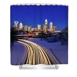 Charlotte Winter Skyline Shower Curtain